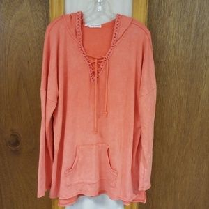 Maurices Coral Hooded Sweatshirt